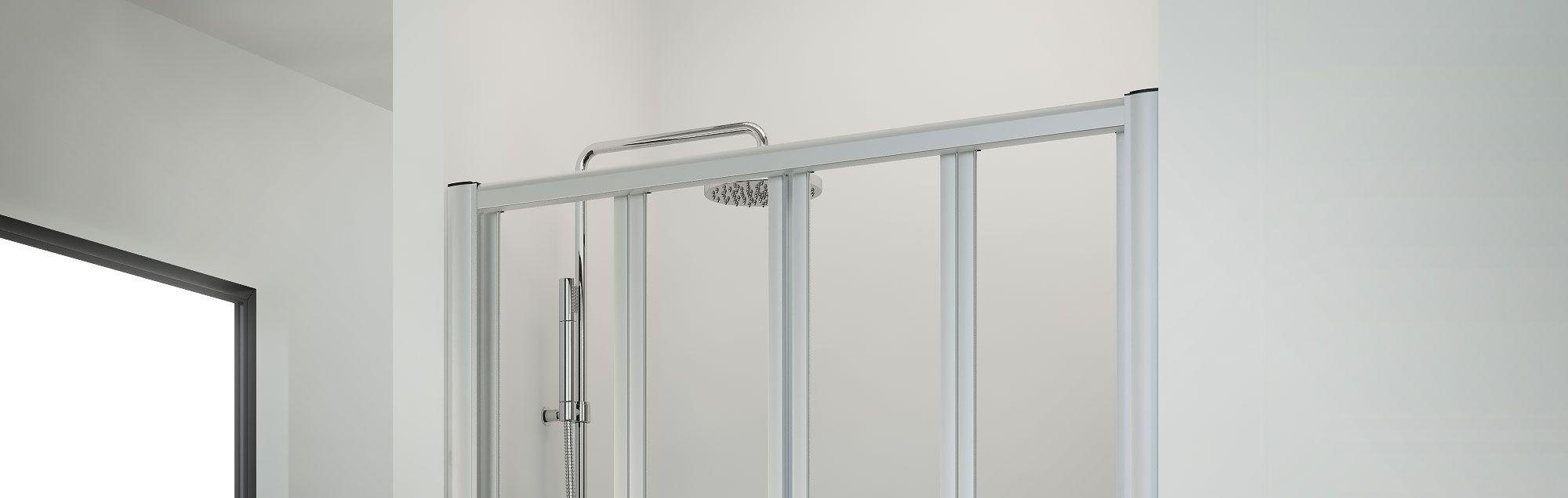 Serie plegadux. box doccia pieghevole per vasca su misura profiltek
