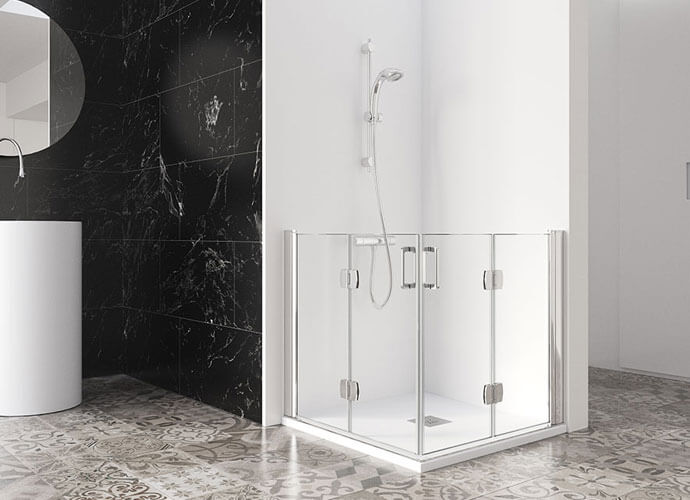 Mampara baño adaptado a medida PMR218