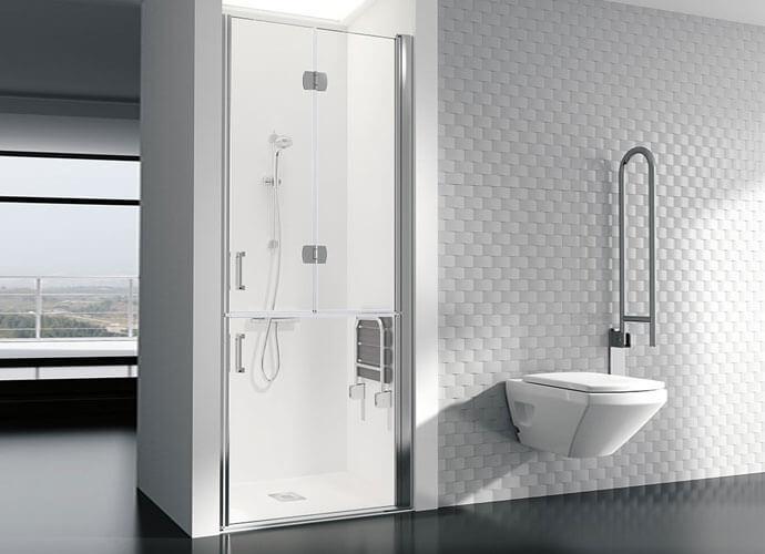 Parois de bain adaptée sur mesure PMR239