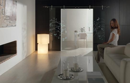 Serie Planit de puertas de vidrio a medida de PROFILTEK