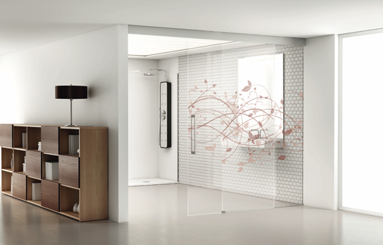 Serie Luxor de puertas de vidrio a medida de PROFILTEK