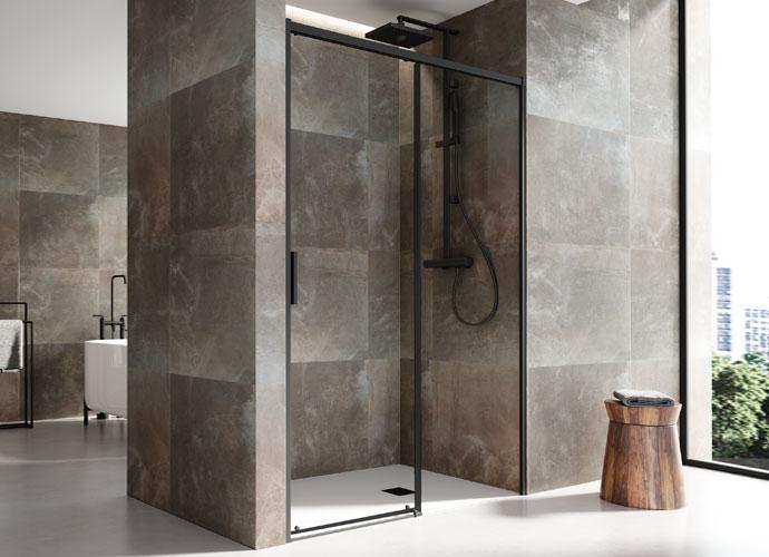 Mampara de ducha corredera Profiltek serie Salma