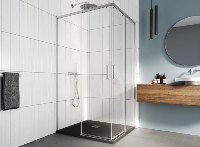 Mampara de ducha corredera Profiltek serie Salma angular