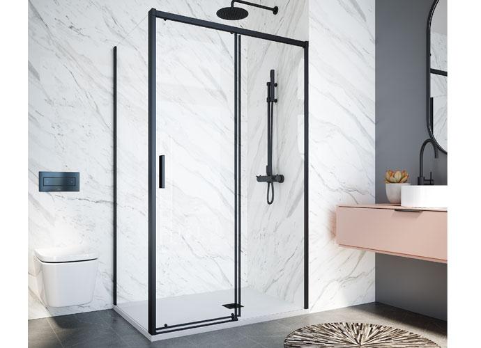 Sliding shower enclousure black Profiltek