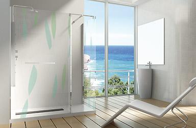 Serie Alhambra de mamparas walk-in de baño PROFILTEK