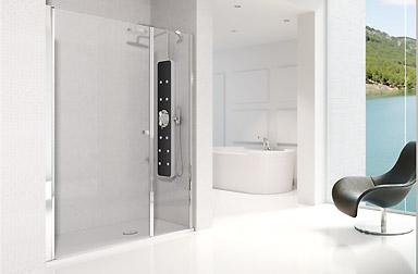 Serie Arcoíris Plus de mamparas abatibles de baño PROFILTEK