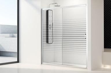 PROFILTEK Cristaldux Collection sliding bathroom enclosures
