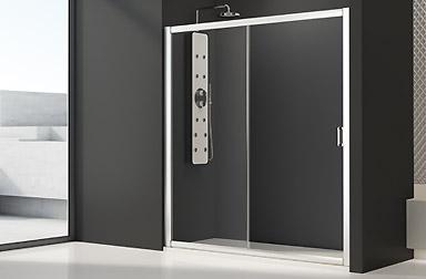 Serie Cristaldux di box doccia scorrevoli PROFILTEK