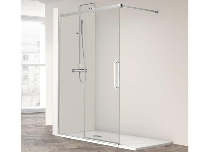 Fixed shower enclousure with sliding sheets Profiltek