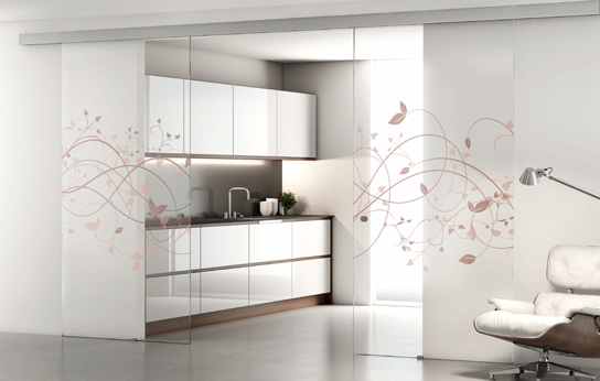 Serie Kosmos de puertas de vidrio a medida de PROFILTEK