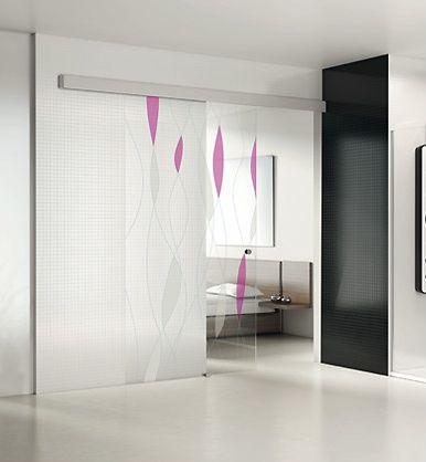 Puertas correderas de vidrio a medida para interiores de profiltek - Puertas correderas vidrio ...