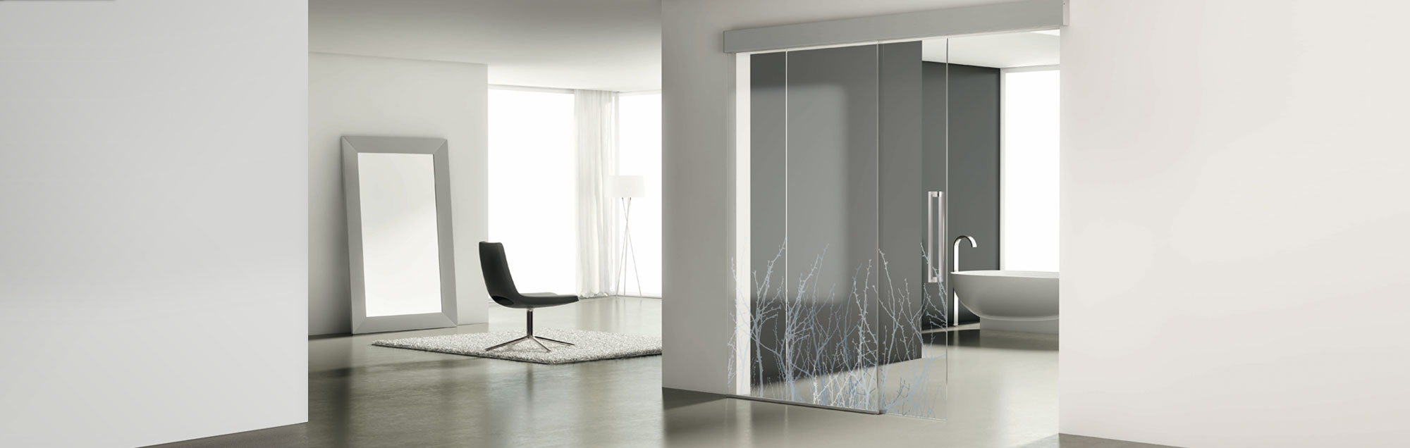 Luxor Collection of made to measure interior sliding glass doors by PROFILTEK
