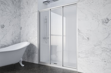 Serie Nova Mas of sliding shower screens PROFILTEK
