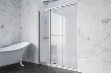 Serie Nova Mas of sliding shower screens PROFILTEK