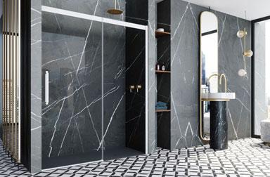 Serie Vita sliding shower screens PROFILTEK