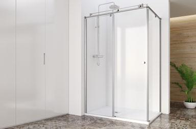 Serie Steel de mamparas correderas de baño PROFILTEK