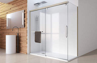Serie Vetro sliding shower screens PROFILTEK