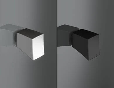 Sofía knob standard Swinging, Glossy Chrome /Black ARCOIRIS PLUS Profiltek