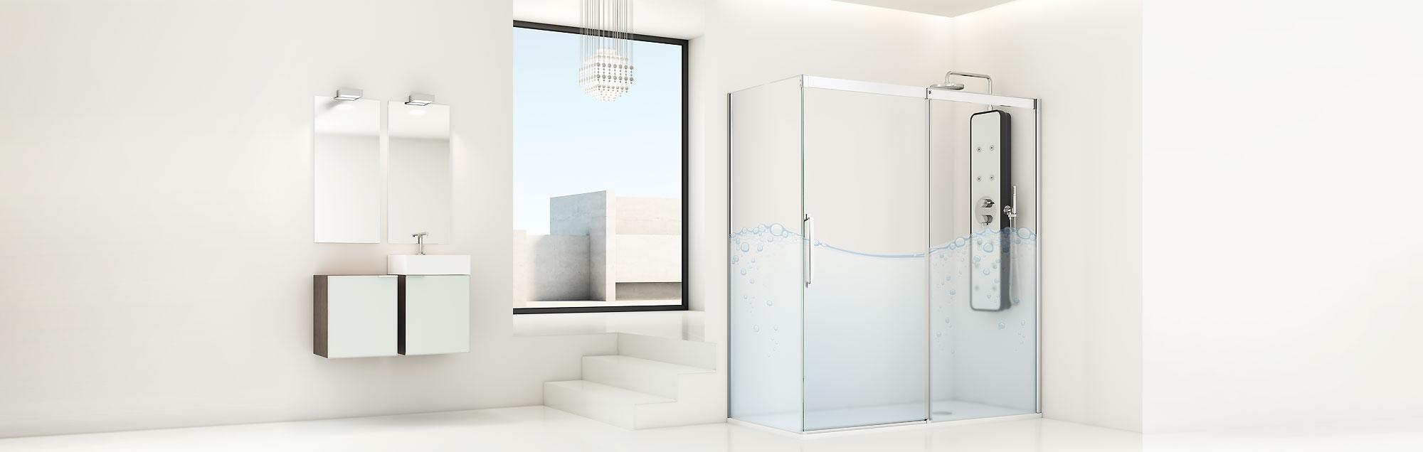 Serie Smart/Vita de mamparas correderas de baño a medida