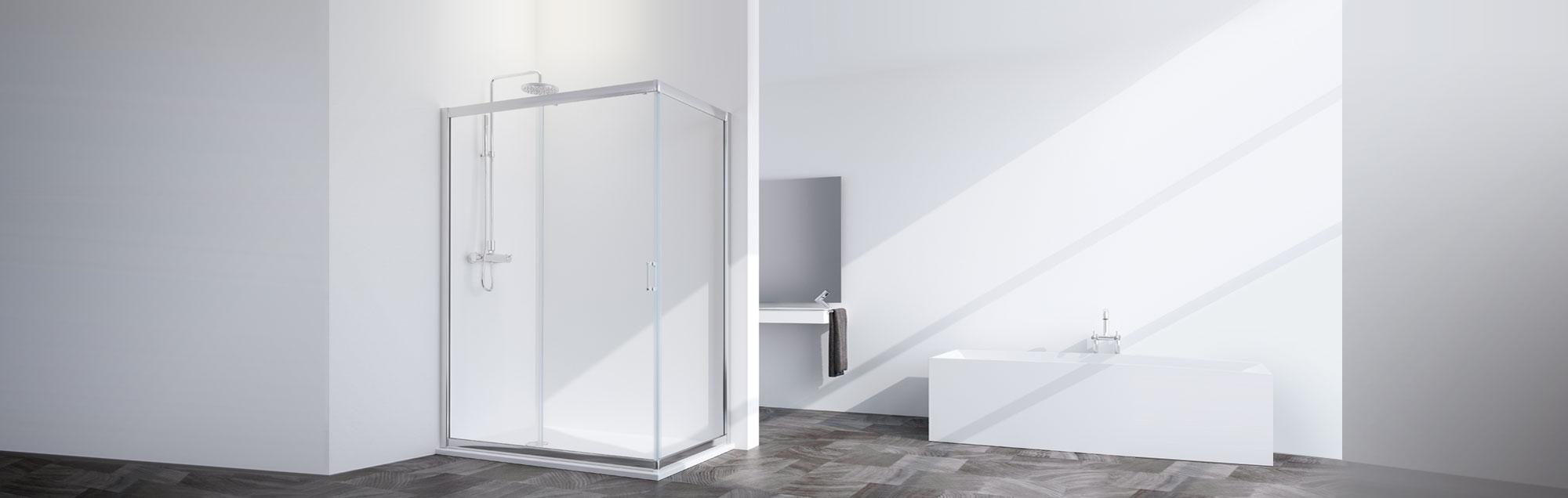 Serie Spring de mamparas standard de baño a medida