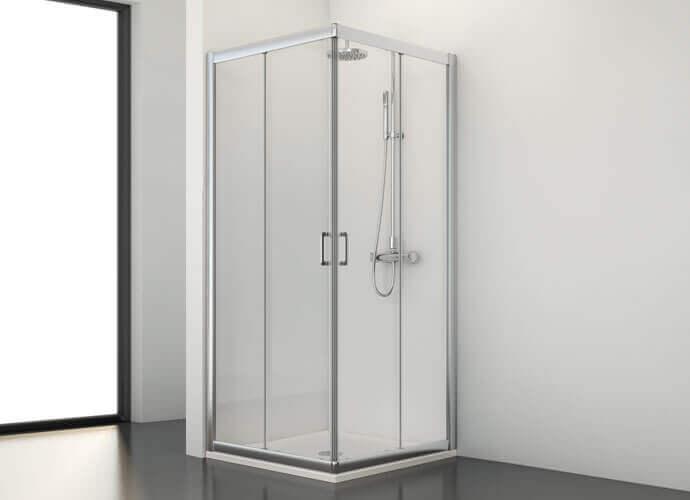 Mampara de ducha corredera y fijo Profiltek serie Spring