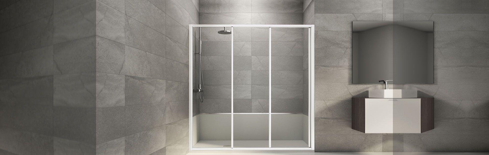 Serie de mamparas standard de baño a medida