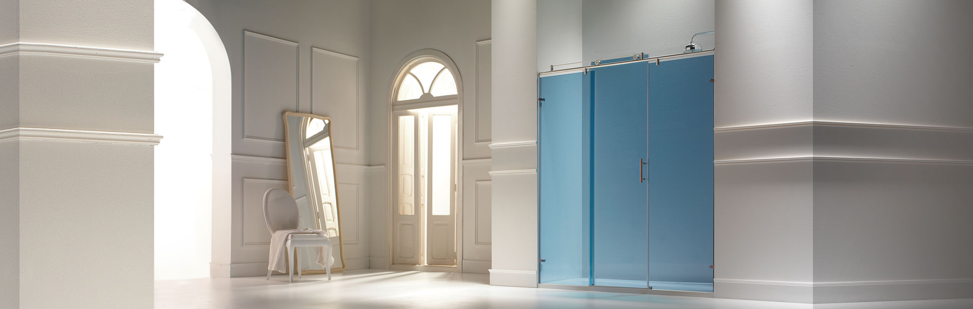Steel Collection sliding made to measure bathroom enclosures
