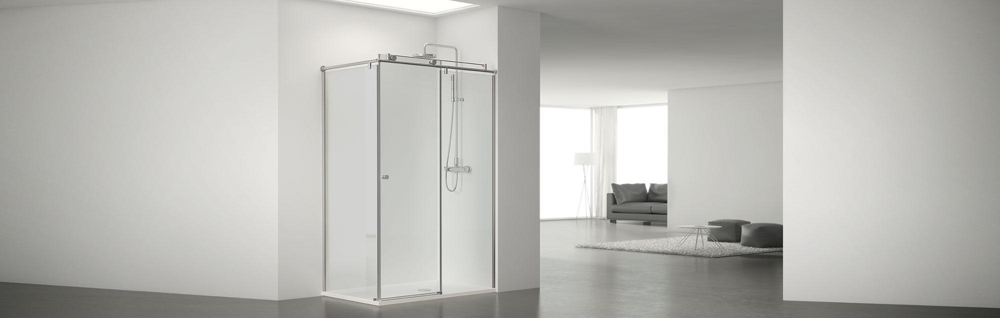 Serie Steel de mamparas correderas de bañera a medida
