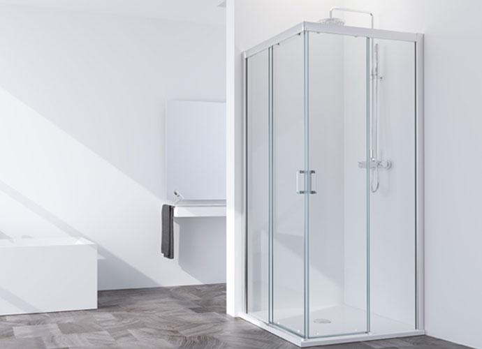 Divisória corrediça para duche angular Profiltek série Summer