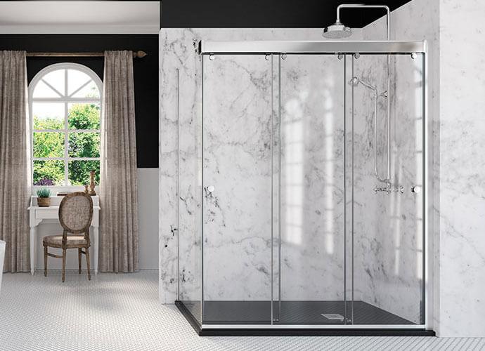 Mampara ducha puertas correderas a medida Profiltek Ta290