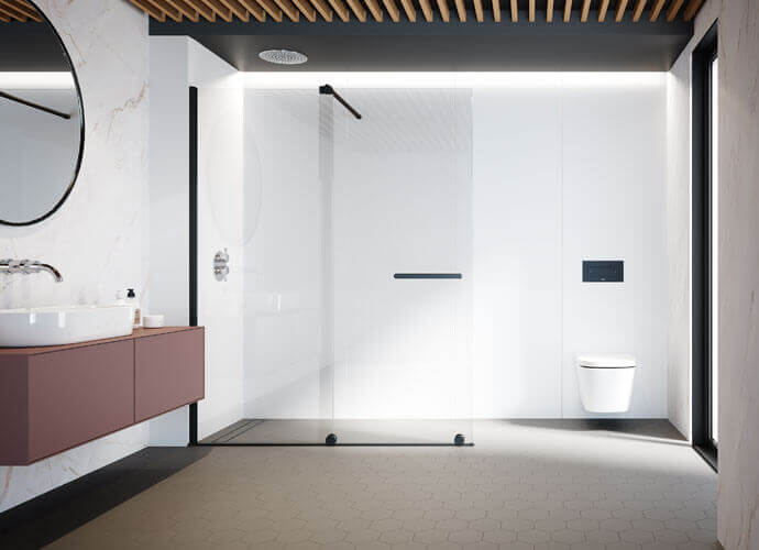 Fixed shower enclousure for bathrooms Profiltek