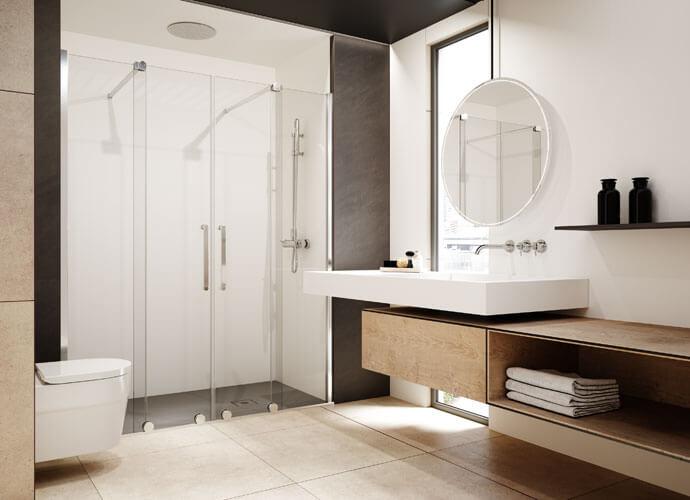 Mampara ducha a medida puertas correderas maneta roma VY225
