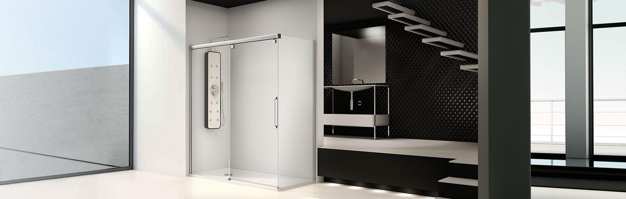 Serie Vetro - Duschabtrennungen nach Maß mit Gleittüren