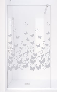 Sandblasted glass MARIPOSAS
