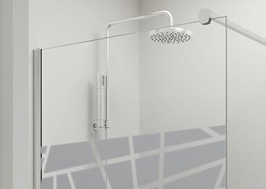 Vidrio Arenado TRANSPARENTE mampara baño PROFILTEK