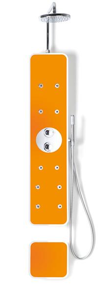 Vetro arancia colonna idromassaggio IPLASH di PROFILTEK