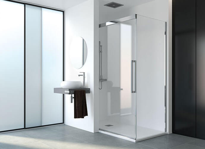 Mampara ducha minimalista a medida Profiltek Va290
