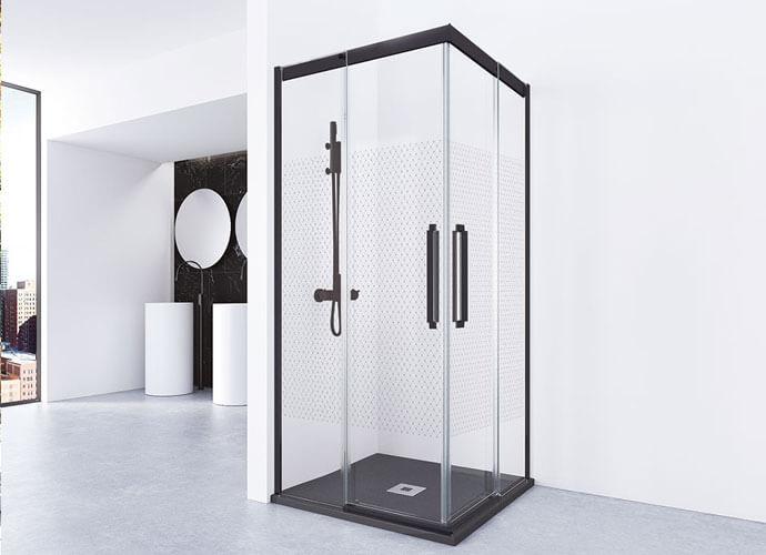 Mampara ducha baño pequeño a medida Profiltek Va220