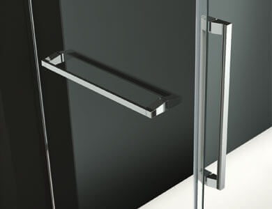 Optional Oxford handle with the possibility of a towel bar on the fixed VITA Profiltek