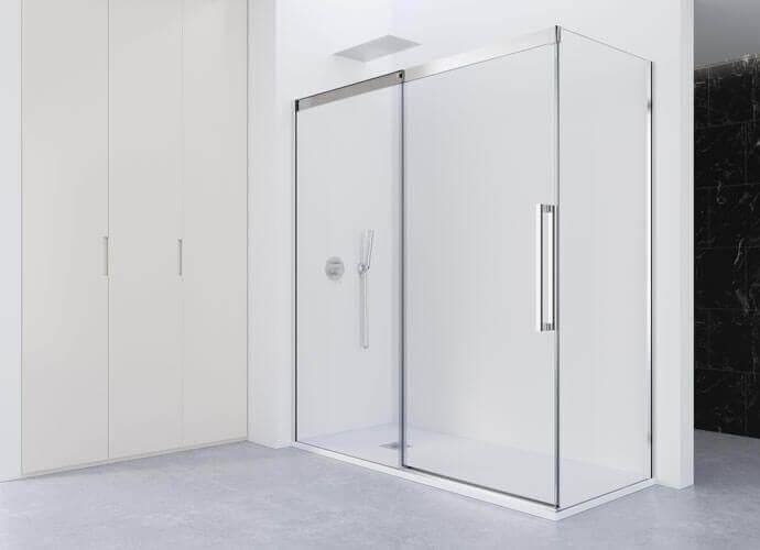 Parois de bain coulissante chrome brillant Profiltek