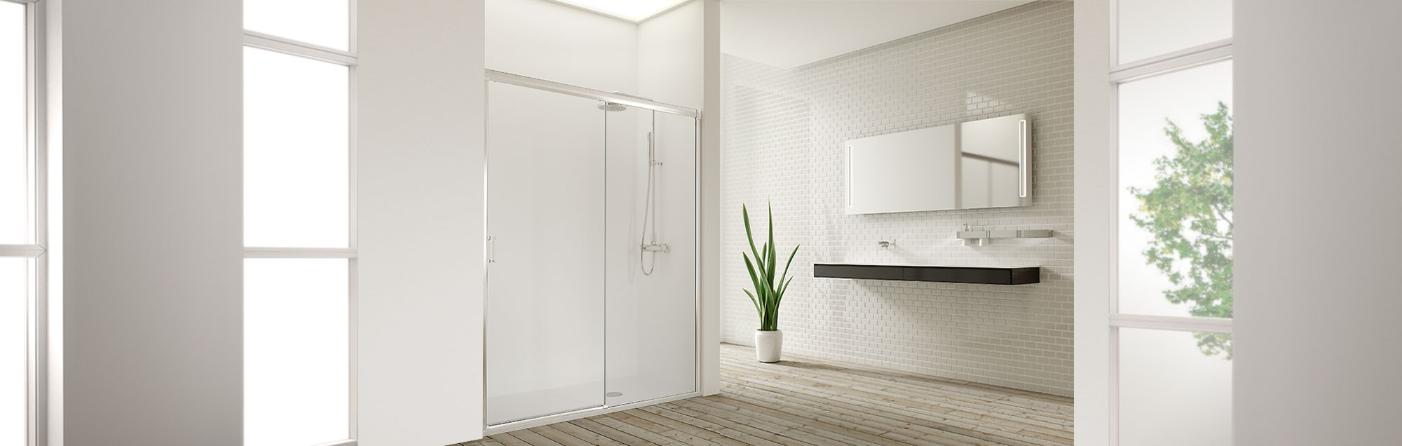 Wind Collection sliding made to measure bathroom enclosures