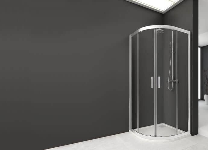 Mampara ducha para baños a medida de hojas correderas Profiltek Wi261