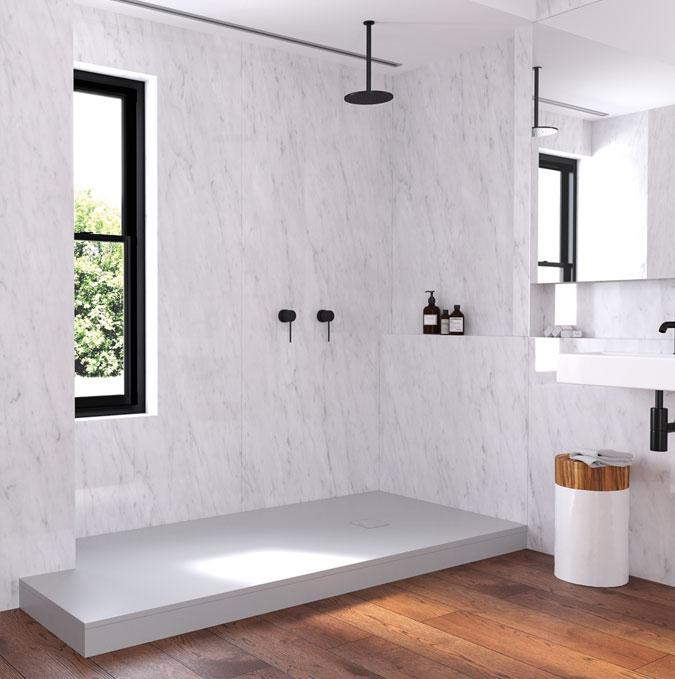 Platos de ducha Zenda con faldón sobre elevación Profiltek