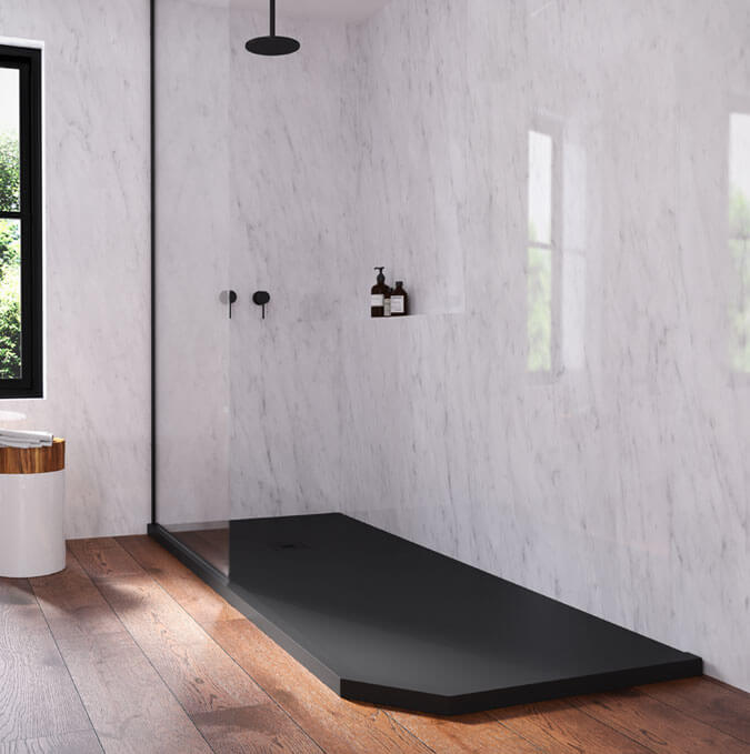 Zenda shower trays 8 colours in stock by PROFILTEK